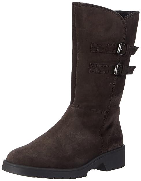 Ellen-Stiefel, Weite G - Botas de Caño Alto de Cuero Mujer, Color Gris, Talla 34.5 Ganter