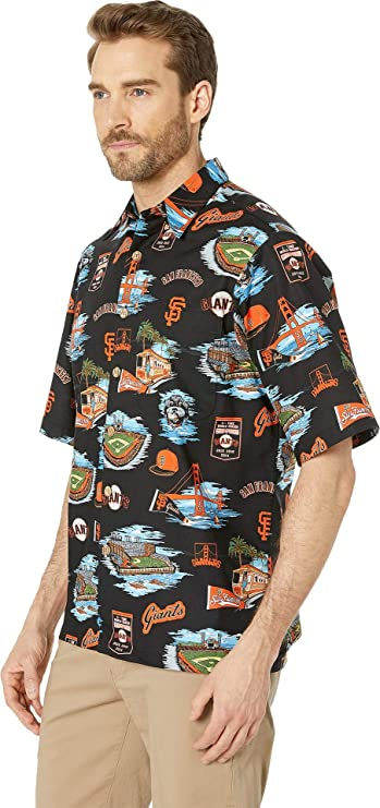 cd6672b9b Reyn Spooner Men's San Francisco Giants MLB Classic Fit Hawaiian Shirt at  Amazon Men's Clothing store: