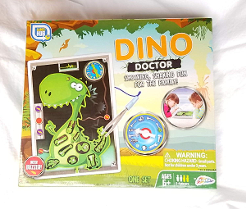 Dino Doctor Dinosaur Operación y Juego de zumbador: Amazon.es: Juguetes y juegos