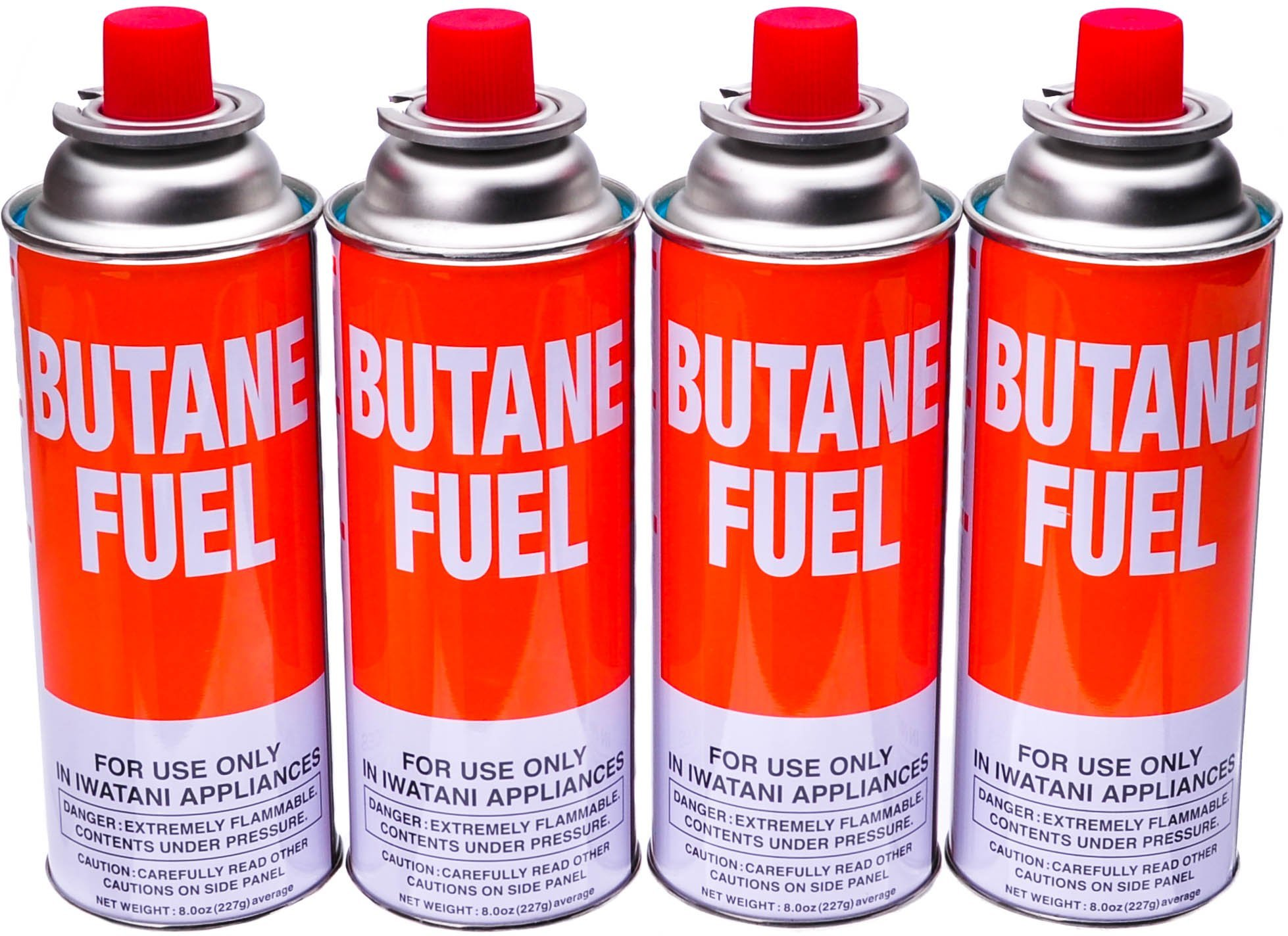Iwatani BUT-6 Butane Canister, Pack of 4, 8-Ounces