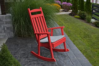 product image for Furniture Barn USA Outdoor Poly Classic Porch Rocker - Bright Red