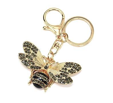 Oh My Shop PT1738E - Porte-Clés Bijou de Sac - Abeille Rayures Ailes ... 01933cdb218