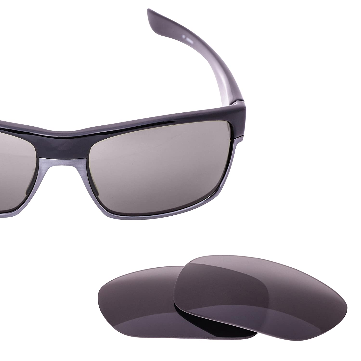 7de92b400d LenzFlip Replacement Lenses for Oakley TwoFace Sunglasses - Gray Black  Polarized Lenses  Amazon.in  Clothing   Accessories