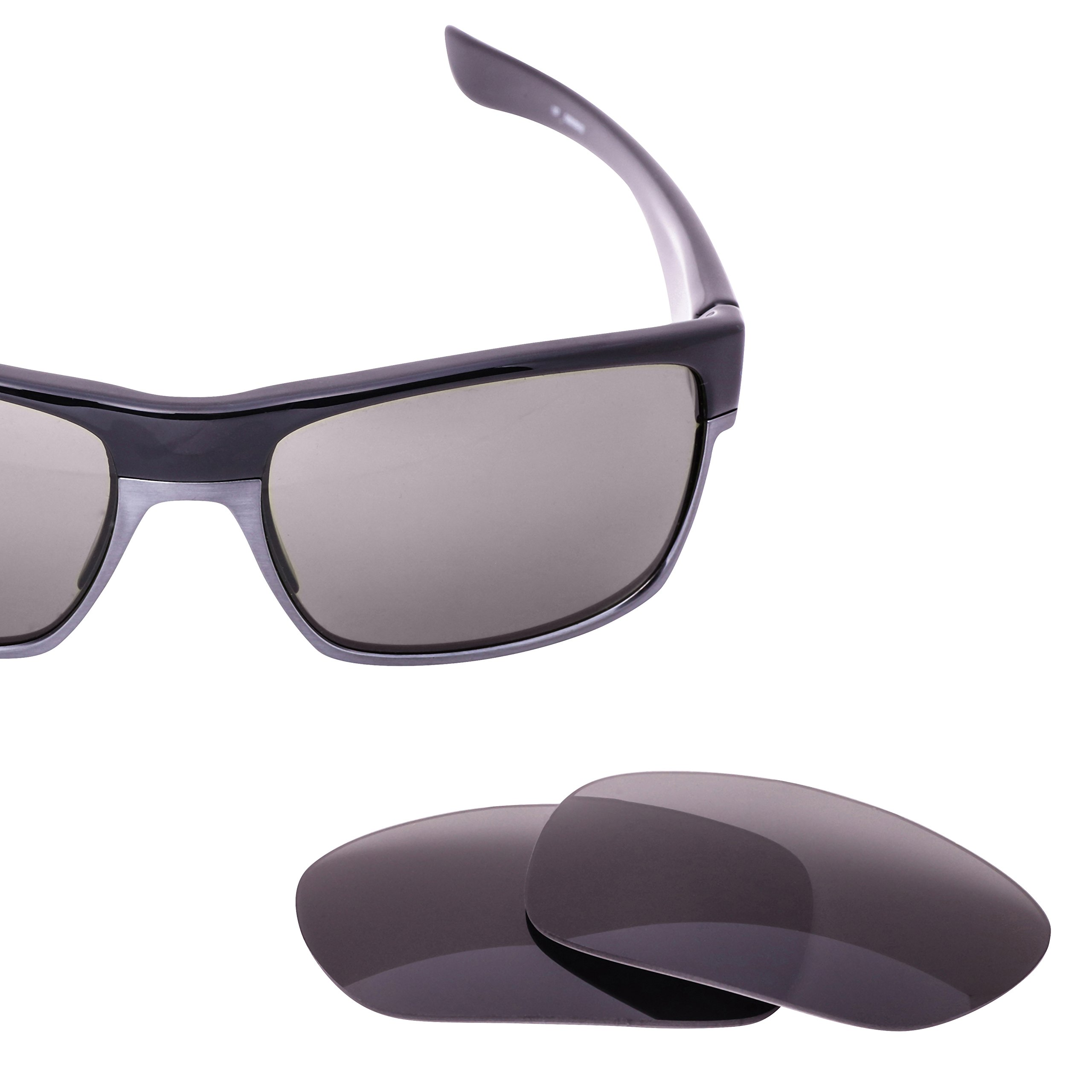Polarized LenzFlip Replacement Lenses for Oakley TwoFace Sunglasses - Gray Black Polarized Lenses