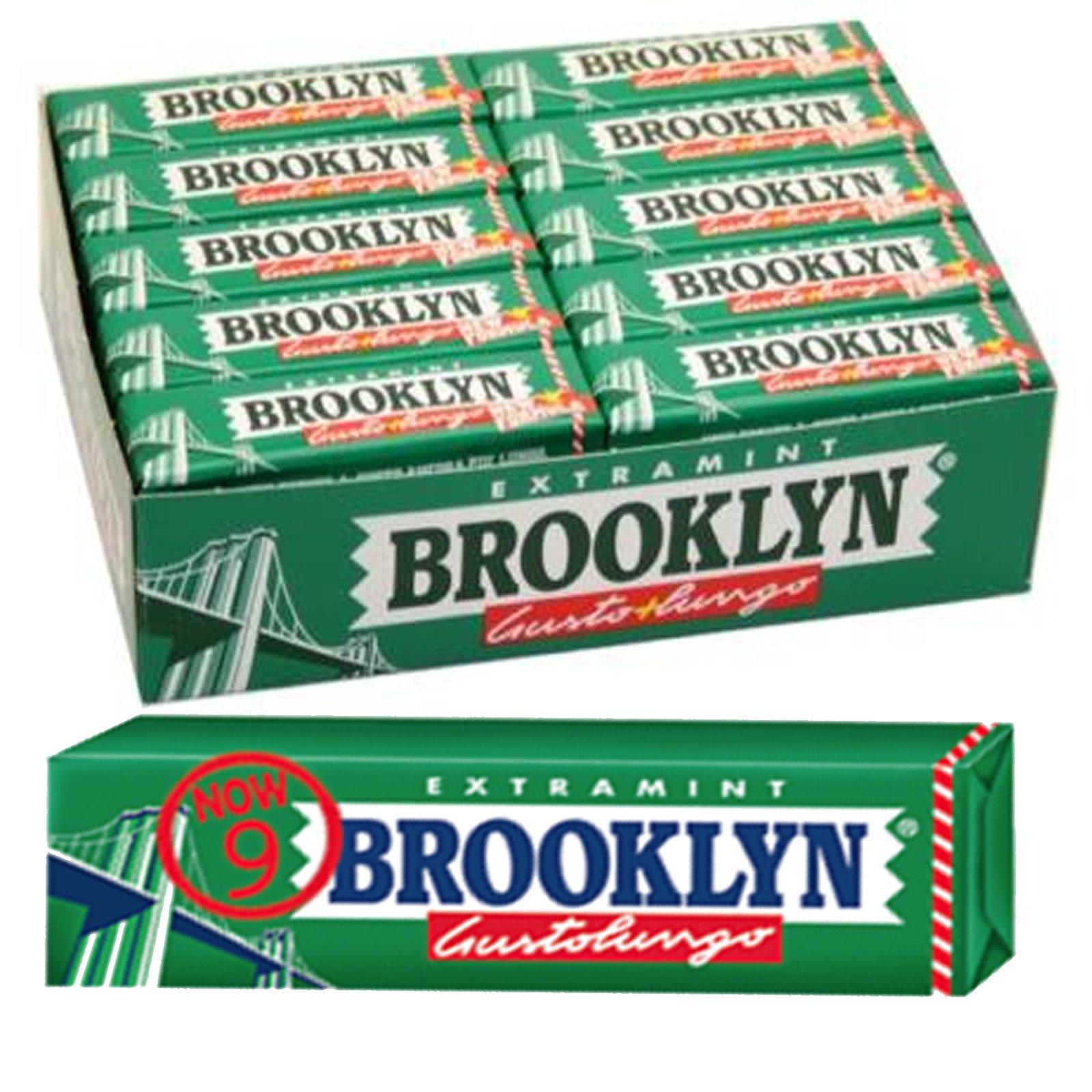 10 PACKS BROOKLYN EXTRAMINT Mint, DARK GREEN CHEWING GUM