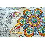 The Coloring Table - Colorable Mandala Set of 8 Placemats