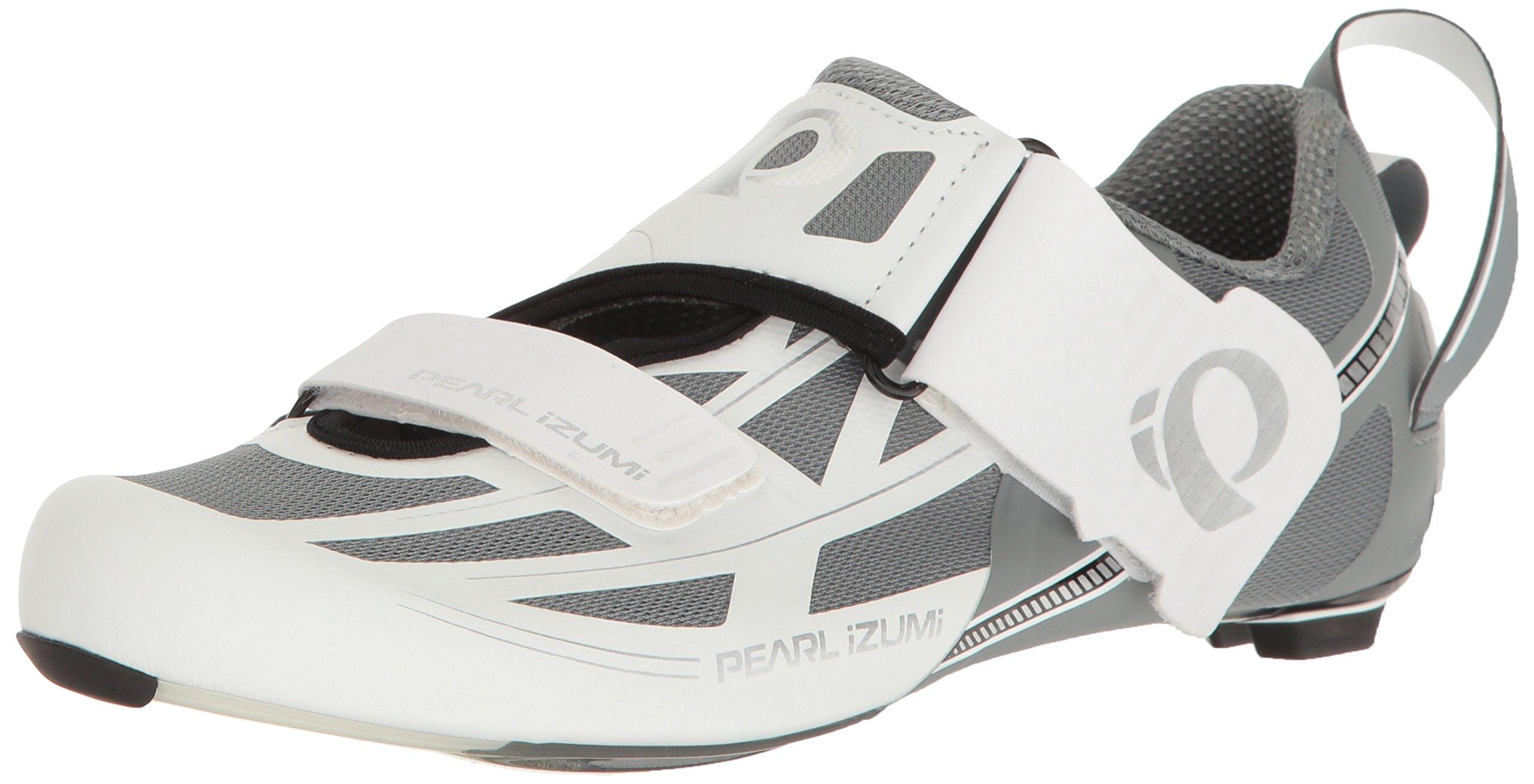 Pearl iZUMi Women's W Tri Fly Elite V6 Cycling Shoe, White/Silver, 37 EU/6 B US