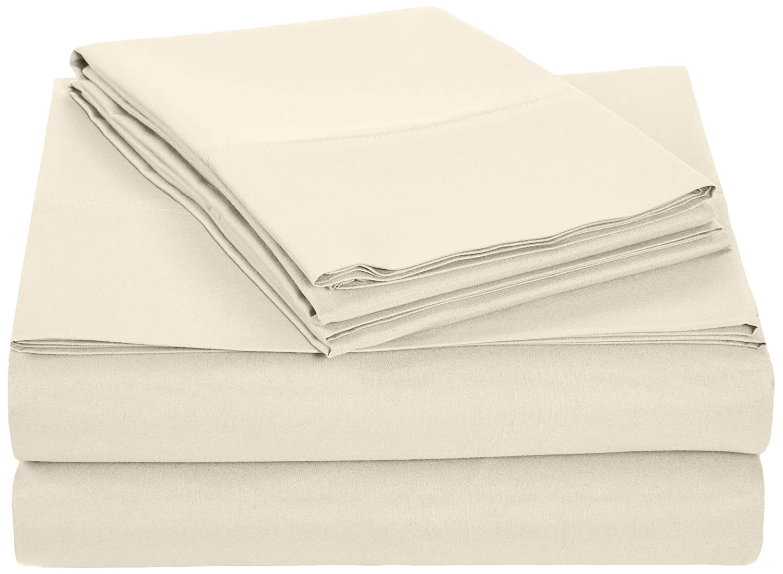 AmazonBasics Microfiber Sheet Set - Queen, Beige