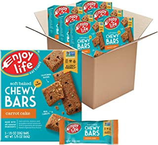 product image for Enjoy Life Chewy Bars, Carrot Cake Nut Free Bars, Soy Free, Dairy Free, Non GMO, Gluten Free, 6 Boxes (30 Total Bars)