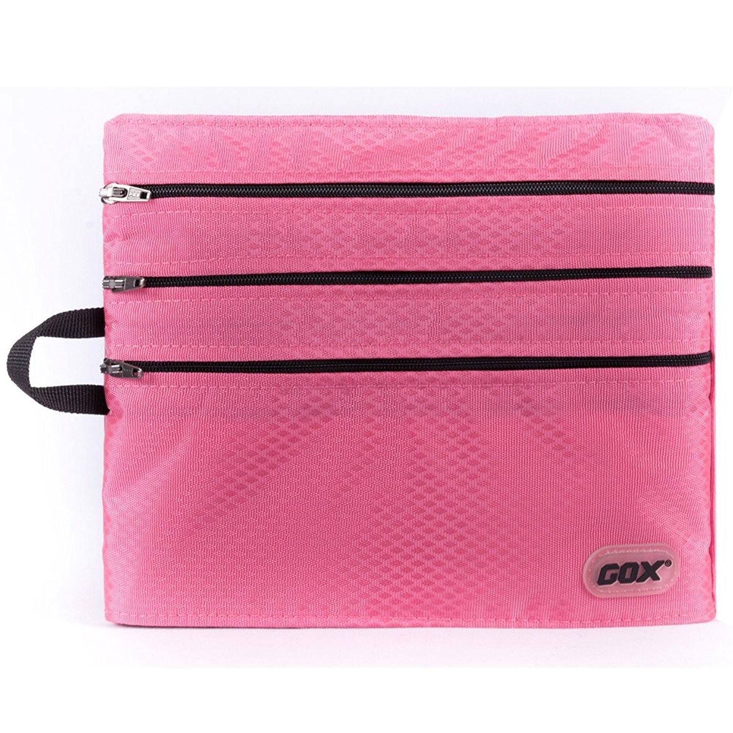 Travel Wallet Passport Holder Travel Document Orgnazier Pouch with 4 Zipper pockets for Women/Men/Family/Traveling, Pink
