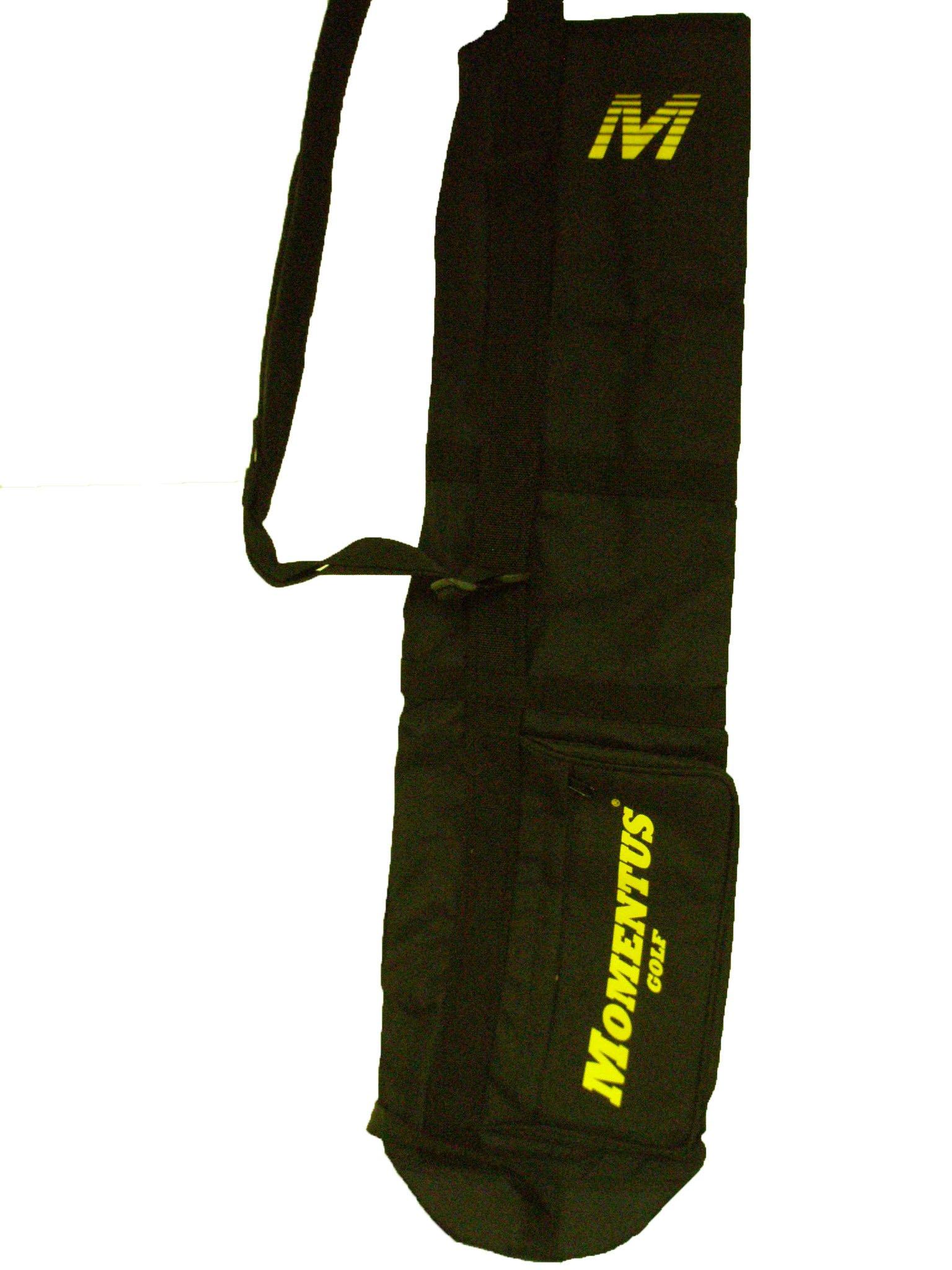 Momentus Golf Sunday Bag (Black, 8'' x 32'') Golf Carry Bag