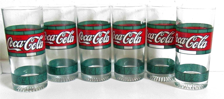 Coca Cola - Vasos, diseño Retro, Tiffany, Estilo Vintage, años 80,: Amazon.es: Hogar