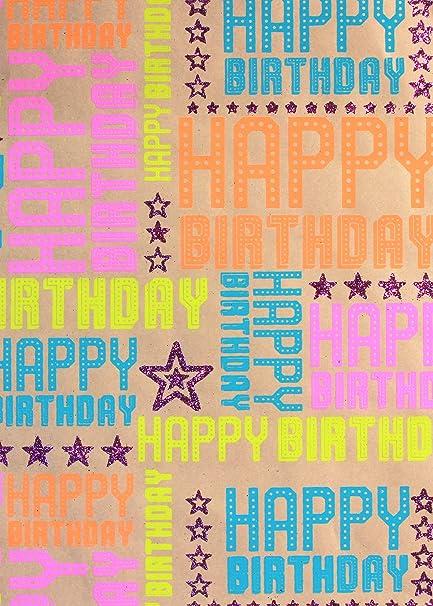 Papel de regalo de cumpleaños de Hollywood, color frambuesa ...