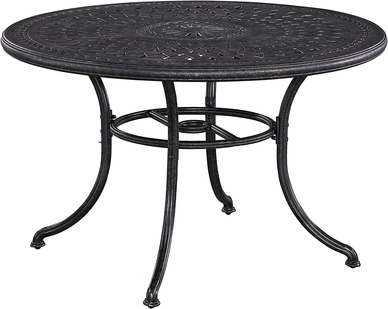 Athens Antique Charcoal Finish 48 Outdoor Round Dining Table by Home Styles