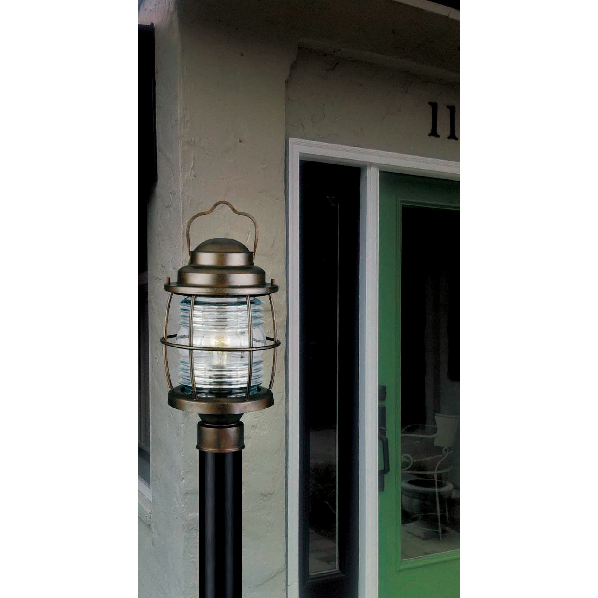 Kenroy Home 90956GC  Beacon Post Lantern, Blackened Gilded Copper Finish by Kenroy Home