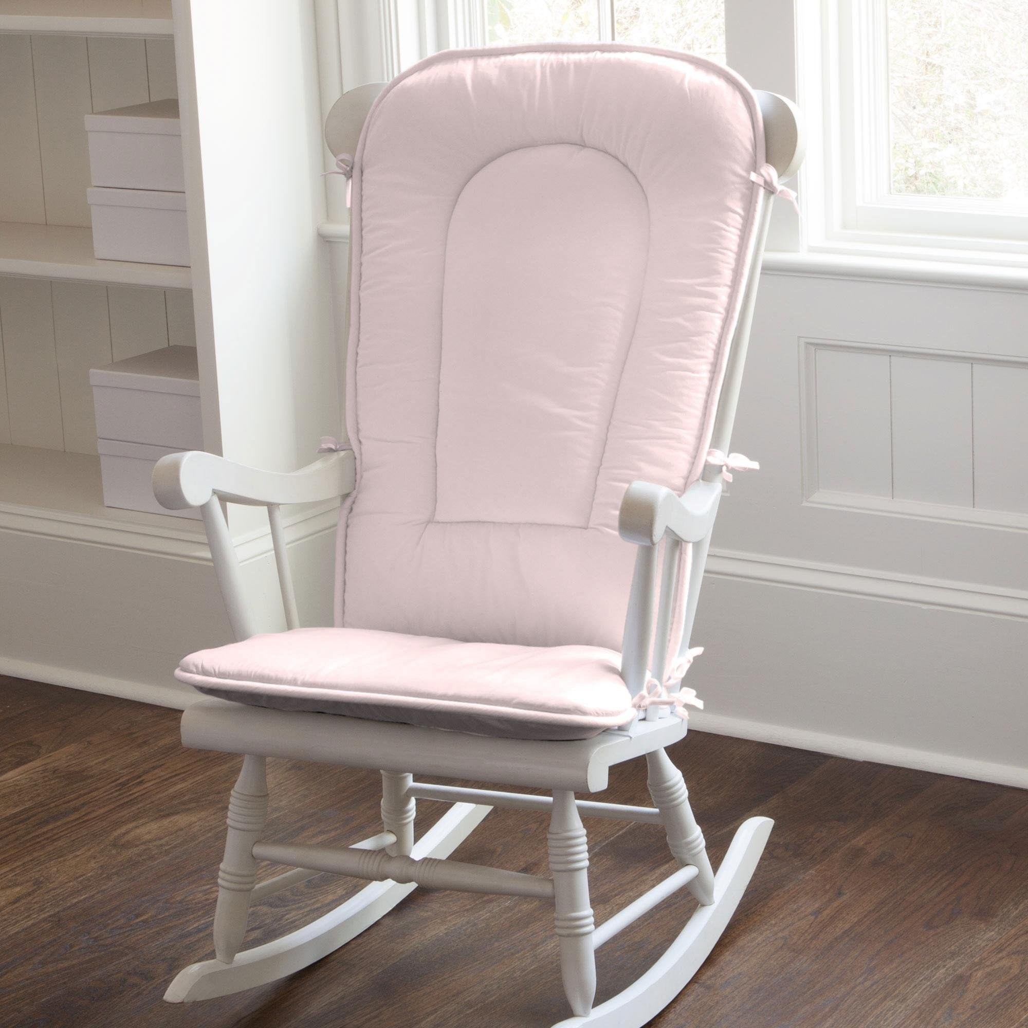 Carousel Designs Solid Pink Rocking Chair Pad