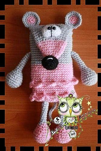 Mochila RATÓN MoDA PERSONALIZABLE (Bebé, crochet, ganchillo, muñeco, peluche, niño