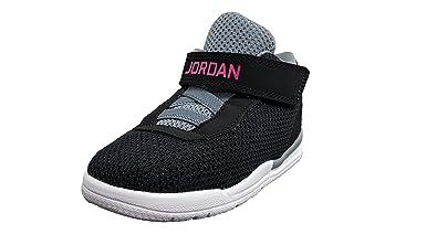 ae19b6e0075b4a Jordan Toddler Academy Black Vivid Pink-Cool Grey (4 US Toddler)