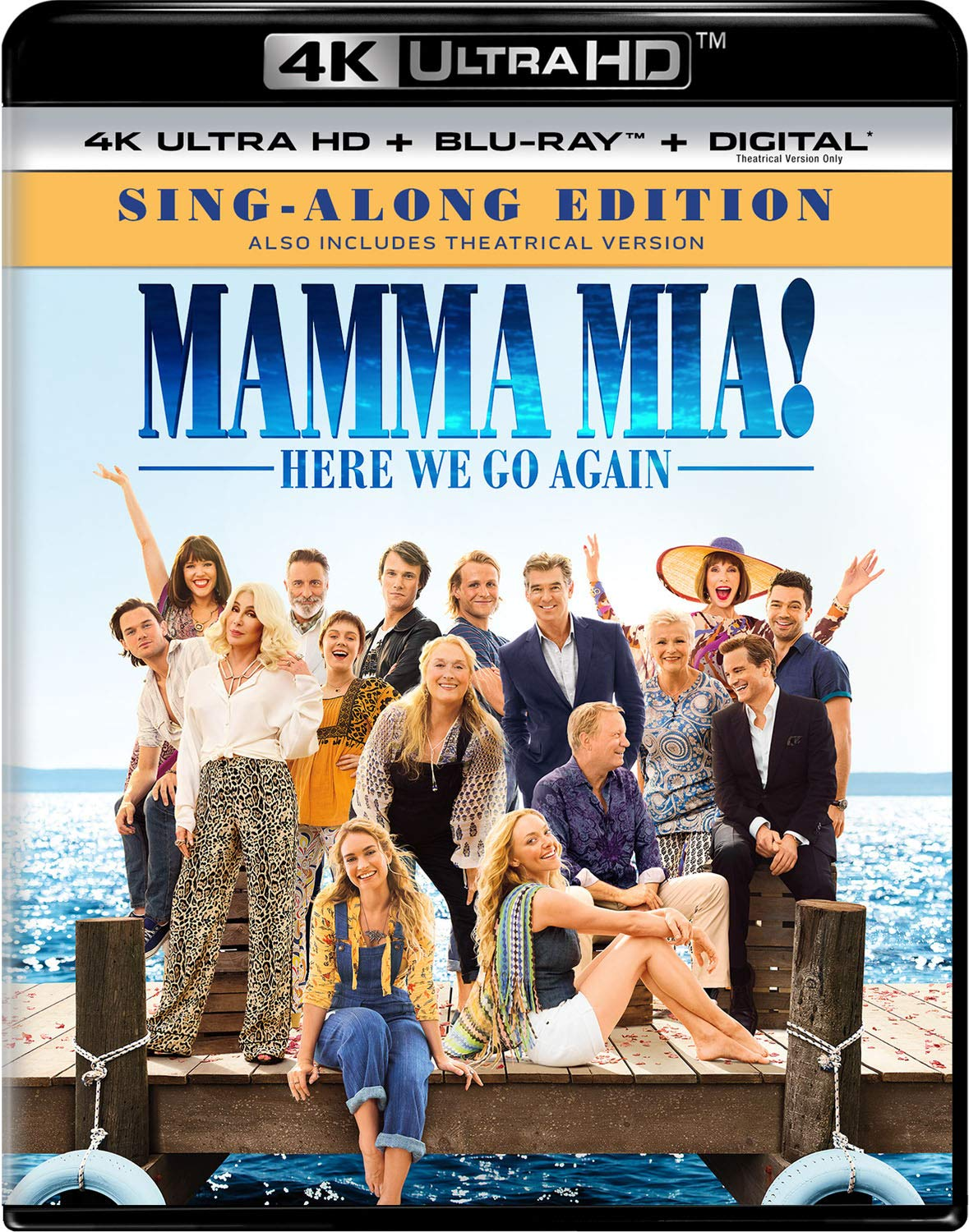 4K Blu-ray : Mamma Mia!: Here We Go Again (With Blu-ray, 4K Mastering, Digital Copy, 2 Pack)