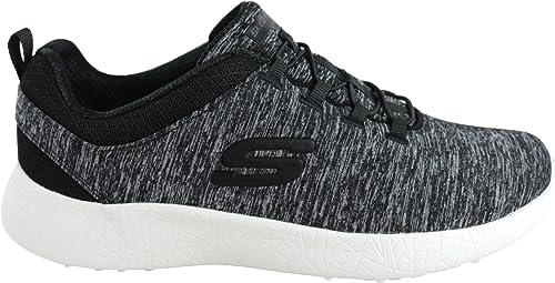 Skechers, Donna, Burst, Tessuto tecnico, Sneakers, Nero