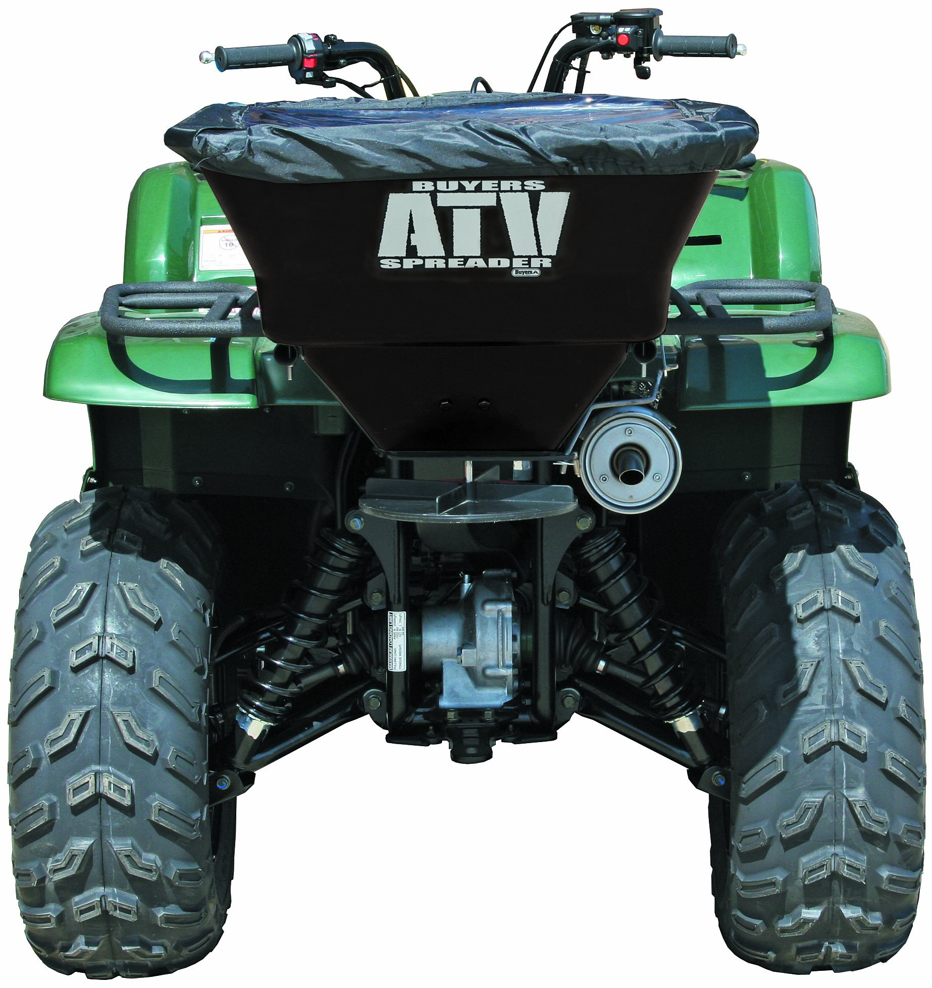 Buyers ATVS100 100-Pound 12-Volt Electric ATV Broadcast Spreader with Rain Cover by Buyers Products