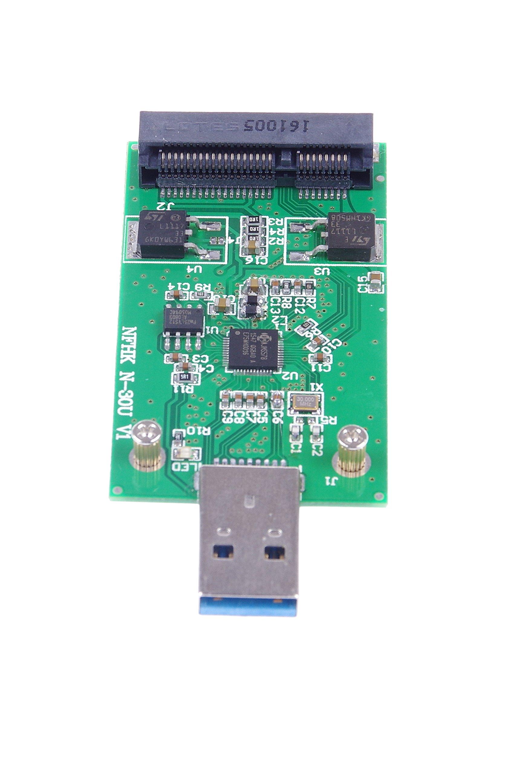 KNACRO USB 3.0 mSATA SSD Adapter as USB Disk Driver don't need USB cable USB 3.0 to mSATA SSD adapter card by KNACRO (Image #9)