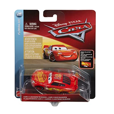 Disney Pixar Cars Die-cast Lightning McQueen With Accessory Card Vehicle: Toys & Games