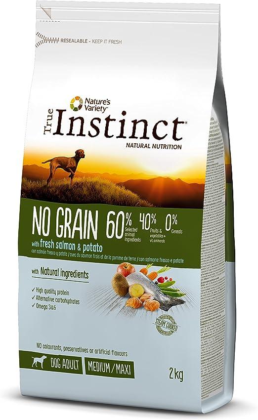 Oferta amazon: True Instinct No Grain - Pienso sin Cereales para Perro Adult Medium-Maxi con Salmón - 2kg