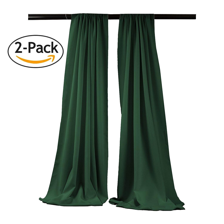 LA Linen Polyester Poplin Backdrop Drape (2 Pack), 96 x 58, Brown 96 x 58 BDpop96x58_Pk2_BrownP22