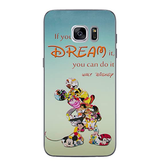 arrives a6e7f 1563a Galaxy S7 Disney Quote Silicone Phone Case/Gel Cover for Samsung Galaxy S 7  (S7/G930) / Screen Protector & Cloth/iCHOOSE / Movie Lines