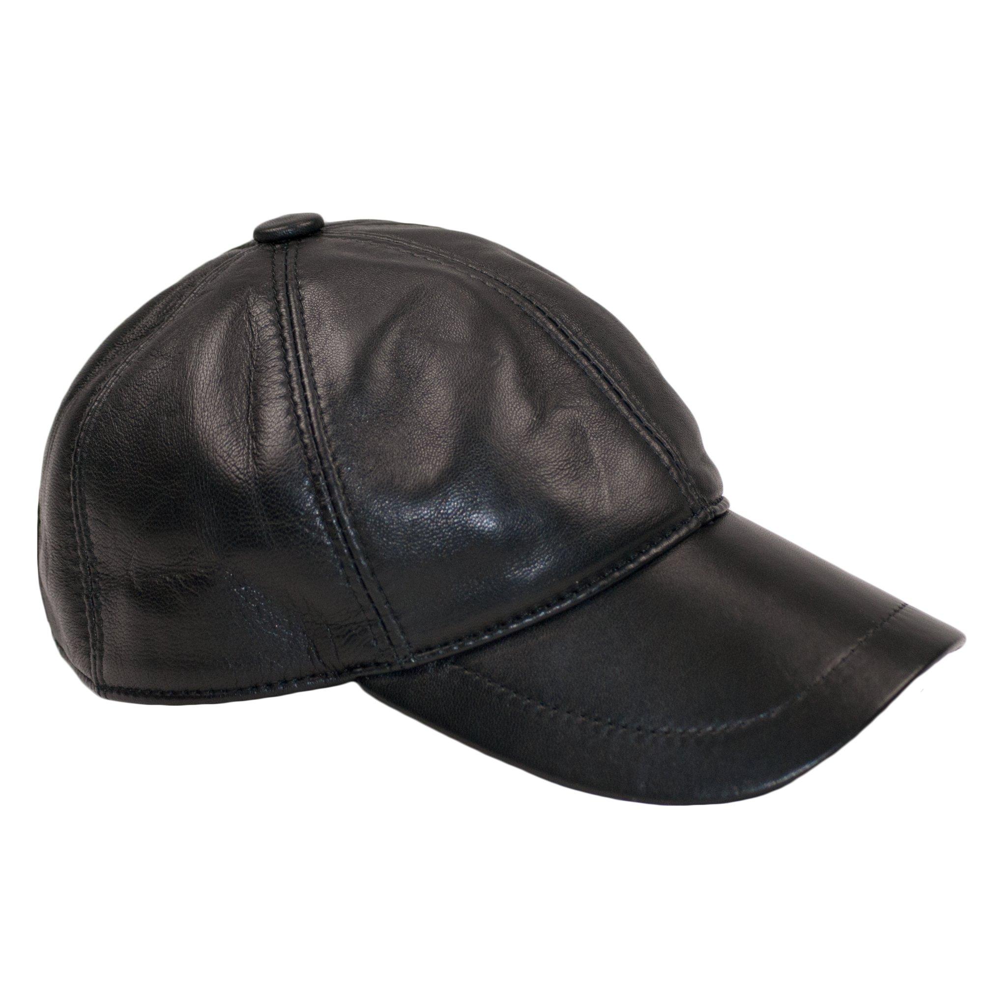 Dazoriginal Berretto da Baseball Cap Pelle Cappellino Uomo Visiera Cappello  Nero product image 4611901cd21b