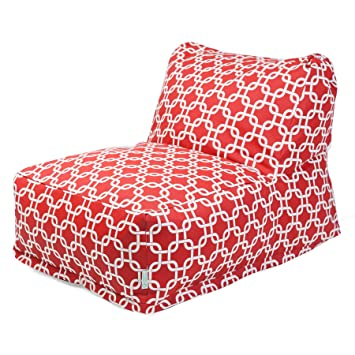 Majestic Home Goods Red Links Outdoor Bean Bag Chair Lounger