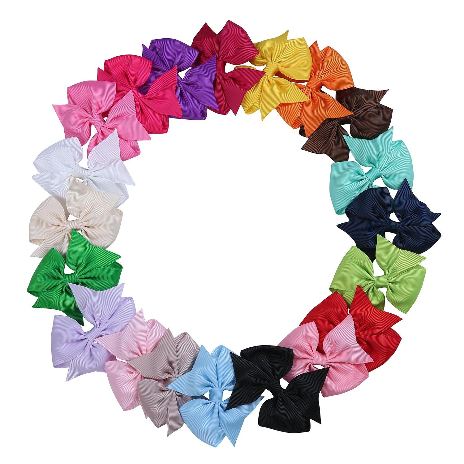 niceEshop(TM) Baby Boutique Girls Ribbon Bowknot Hair Clips and Rabbit Ear Headbands