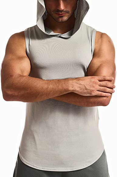 OA ONRUSH AESTHETICS Mens Athletic Muscle Fitness Sleeveless Hoodies Bodybuilding Gym Workout Sleeveless Hooded Shirts