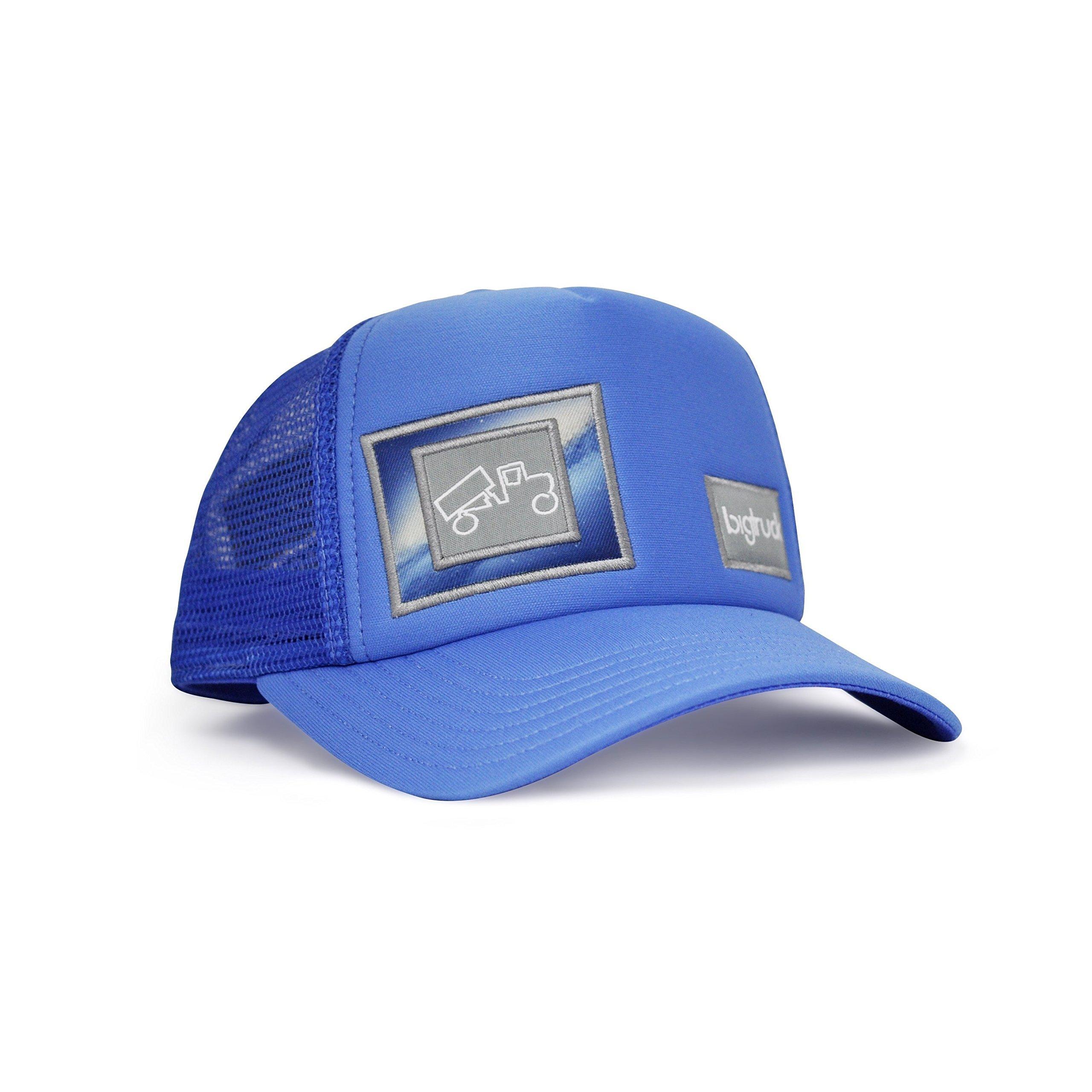 bigtruck Original Toddler Mesh Snapback Toddler Trucker Hat, Blue