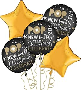 Amazon.com: Party City Celebrate New Year's Eve Balloon ...