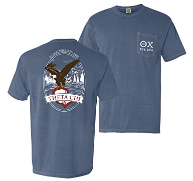 1b04bd35 Image Unavailable. Image not available for. Color: Theta Chi Comfort Colors  Eagle Tee