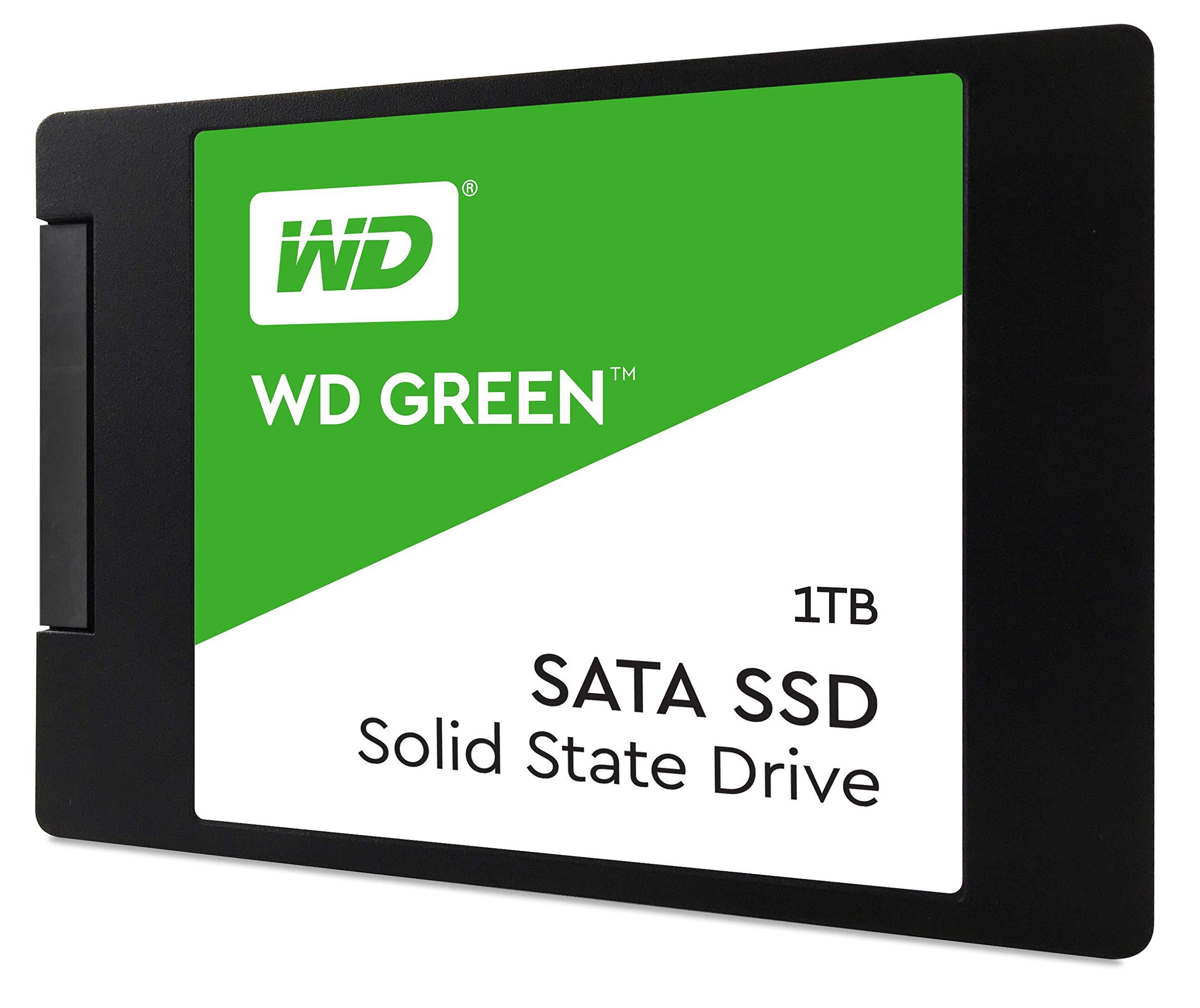WD Green 1TB Internal PC SSD - SATA III 6 Gb/s, 2.5''/7mm - WDS100T2G0A