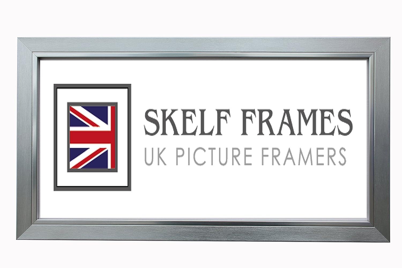 Skelfフレーム30 mmブラッシュドシルバー写真フォトポスターフレーム付きガラス(16
