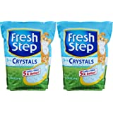 Fresh Step Crystals, Premium, Clumping Cat Litter, Scented, Two 8 Pound bags