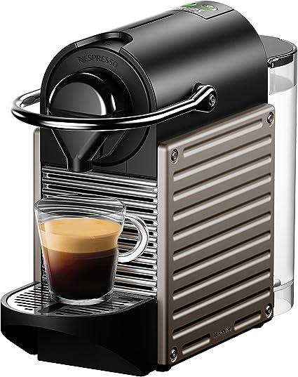 Nespresso XN304T Pixie Titán EU, 1260 W, 2 Cups, Acero Inoxidable ...