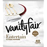 Vanity Fair Entertain Paper Napkins, Dinner Size, Classic White, 320 Count