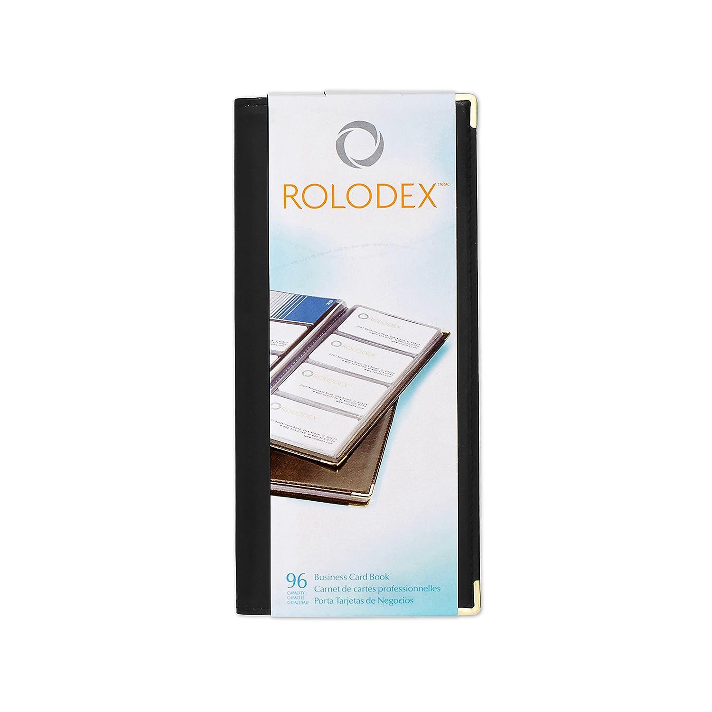 Amazon rolodex business card book 96 card black and gold amazon rolodex business card book 96 card black and gold 67473 business card holders office products colourmoves