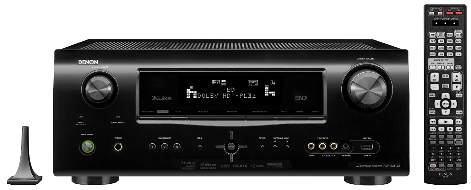 Denon AVR-2311CI 7.1 Channel A/V Surround Sound Receiver (Discontinued by  Manufacturer): Amazon.ca: Electronics