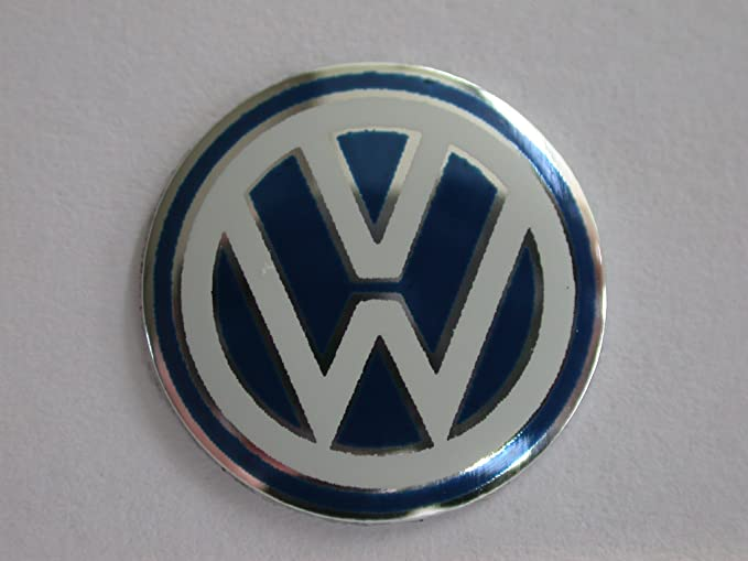 1x Blue Vw Volkswagen Replacement Car Key Fob Logo Badge Size 15mm