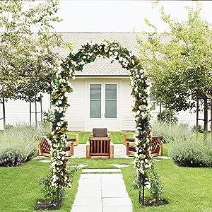 "ART TO REAL Outdoor Flower Garden Arch Trellis, Durable Steel Garden Arbor for Climbing Plants, Wedding Decoration, 7'8"" High x 4'5"" Wide"