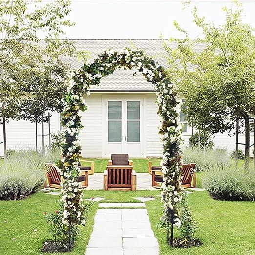 ART TO REAL Arco para el jardín de Flores para el Aire Libre, diseño de Enrejado de Acero Duradero, para Plantas trepadoras, decoración de Bodas, 17, 78 cm de Alto x 10,