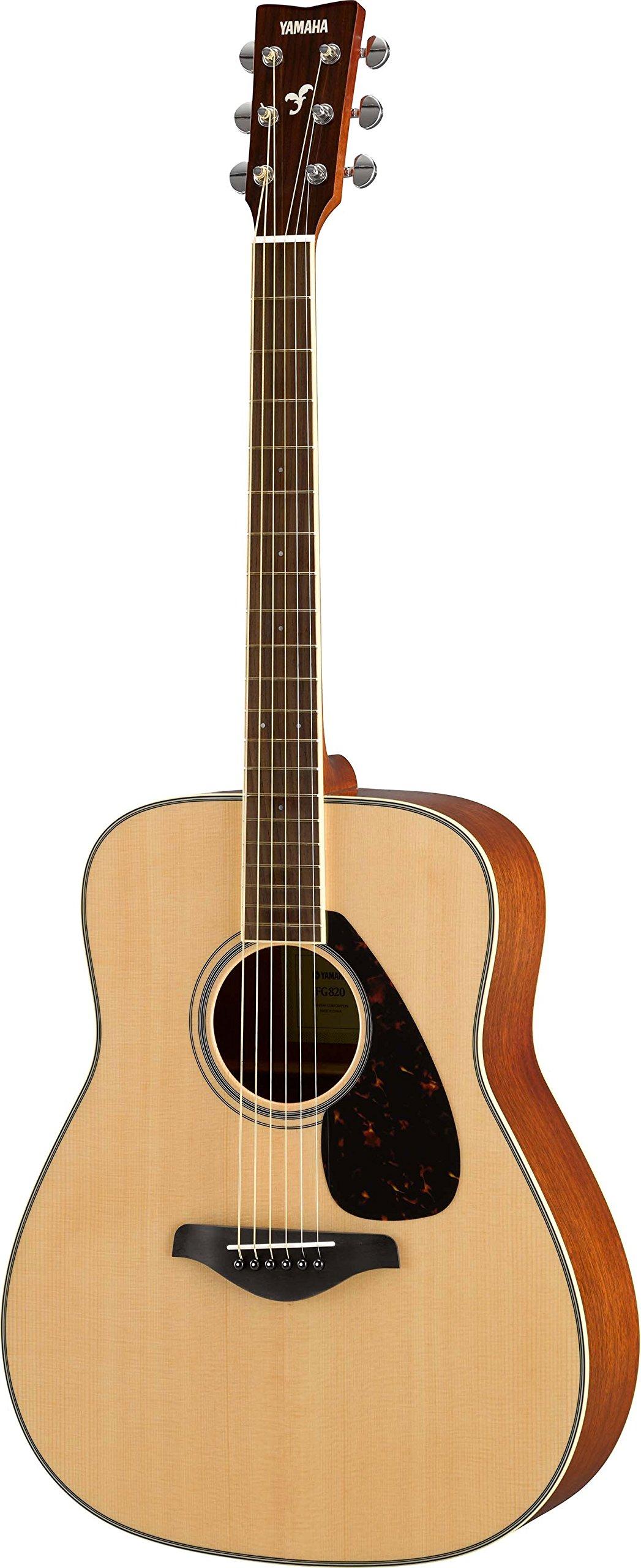Yamaha FG820 Solid Top Acoustic Guitar, Natural by YAMAHA