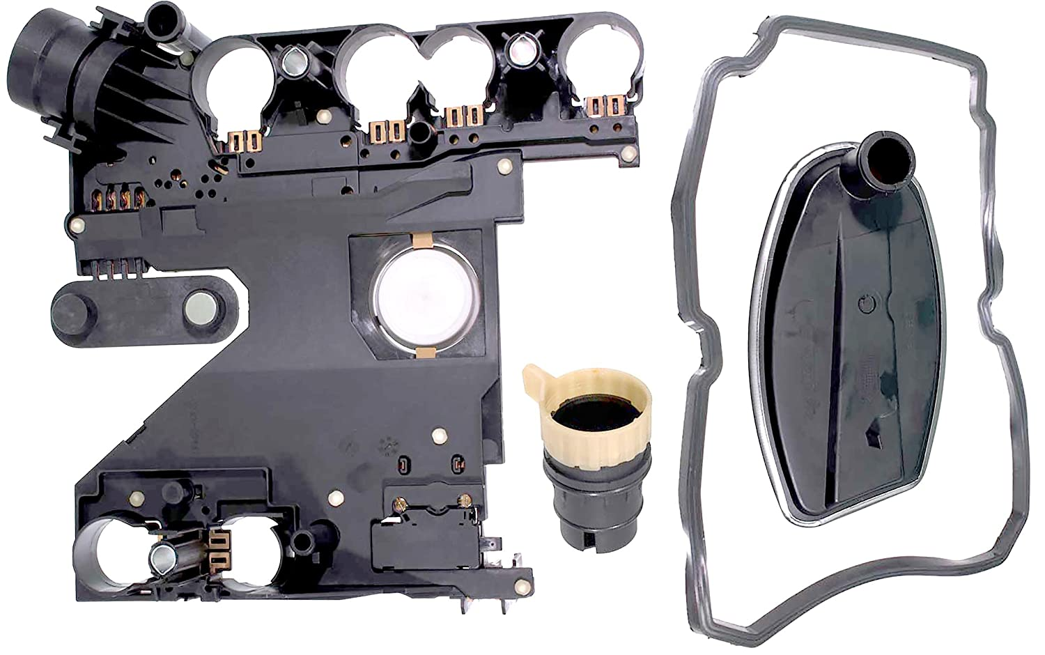 APDTY 028780 Transmission Conductor Plate Complete Kit Includes Valve Body  Plate, VSS Vehicle Speed Sensor, Adapter Plug, Filter, Gasket (Replaces