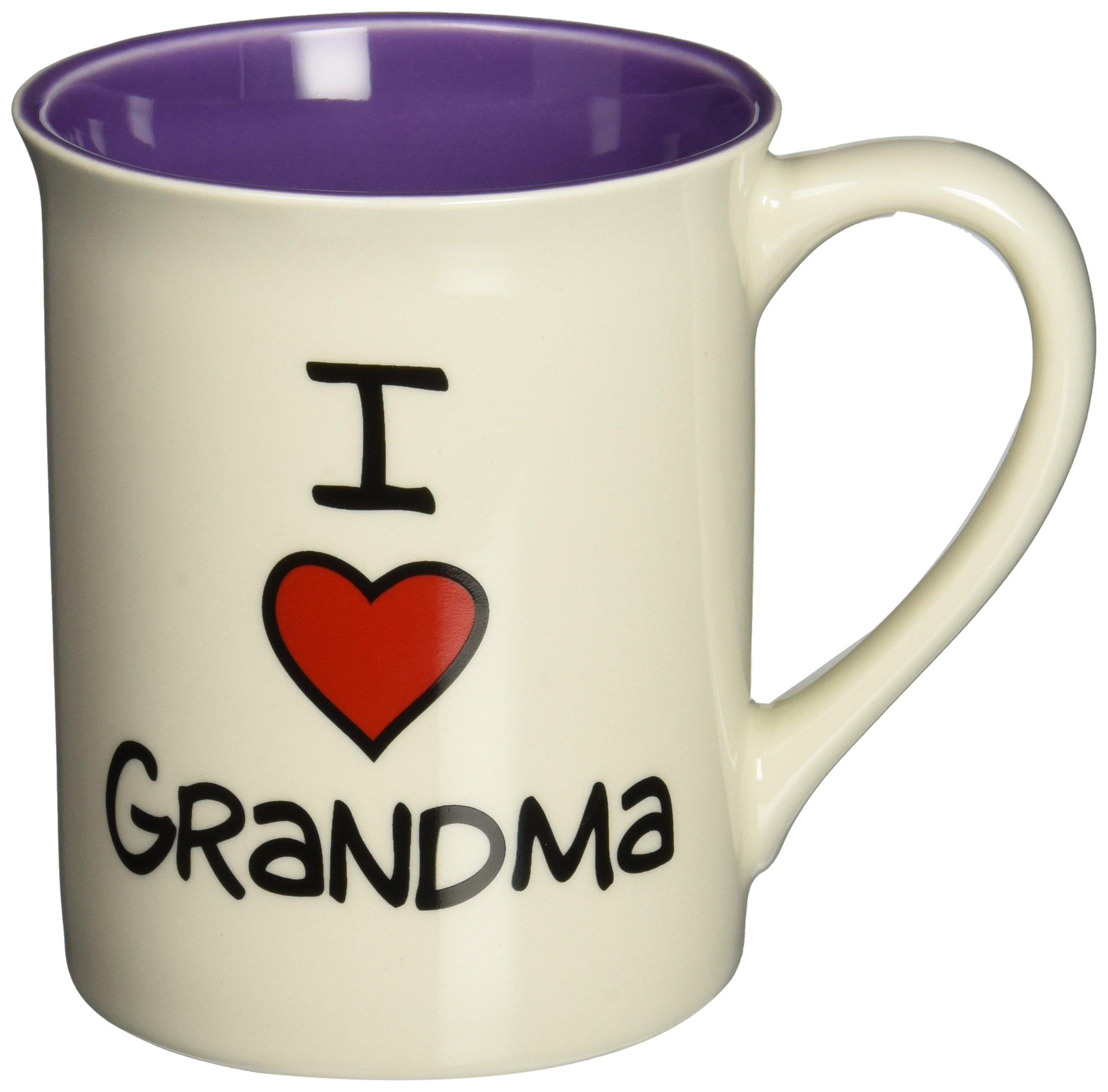 "Our Name is Mud ""I Heart Grandma"" Stoneware Mug, 16 oz."